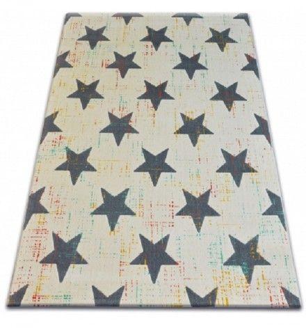 Detský koberec Šedé hviezdy