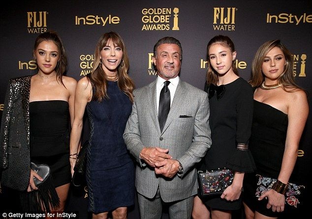 Lovely ladies! Stallone shares his daughters with his wife Jennifer Flavin