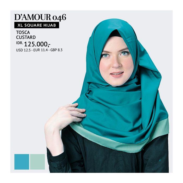 XL Square Hijab Tatuis - D'Amour 046
