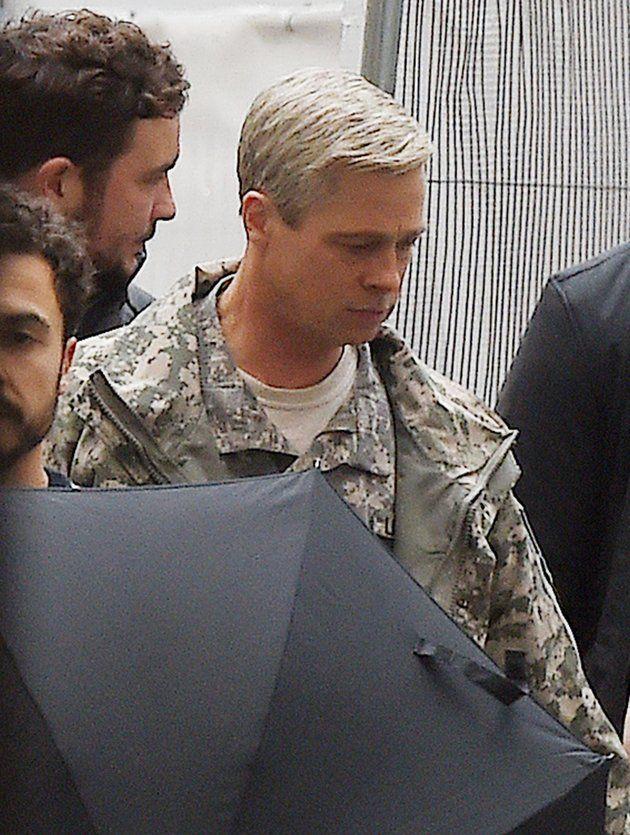 Brad Pitt Goes Completely Gray For New Movie
