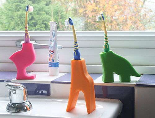 Diego and Grace kids toothbrush holders by J-Me