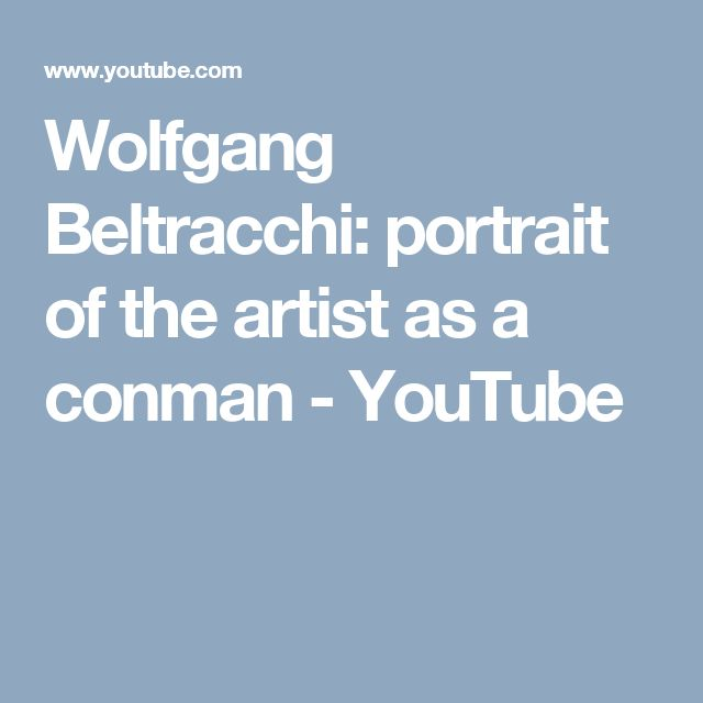 Wolfgang Beltracchi: portrait of the artist as a conman - YouTube