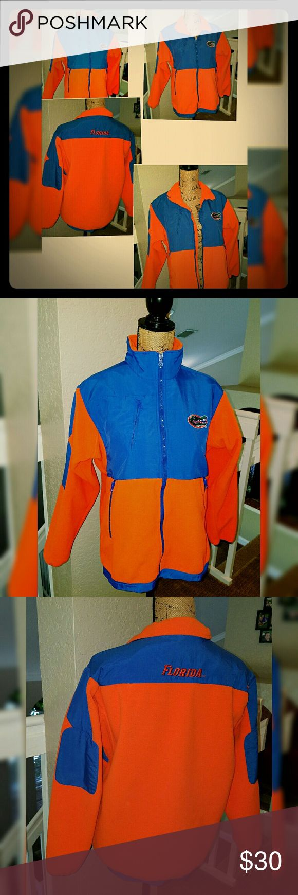UF Gatora sweatshirt jacket Are you a Florida Gator? You will ? this Florida Gators zip up sweatshirt/light jacket! Size Small has 3 zippered pockets. Smoke Pet Free home   offers welcome ? Jackets & Coats
