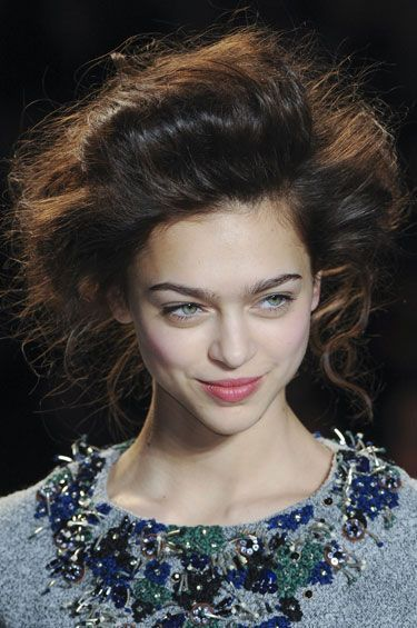 Cute Long Messy Brunette Homecoming Hairstyle