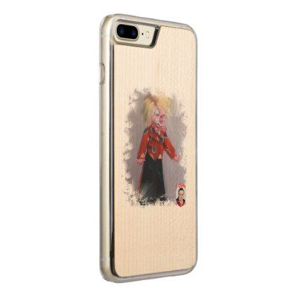 Clown/Pallaso/Clown Carved iPhone 8 Plus/7 Plus Case - diy individual customized design unique ideas