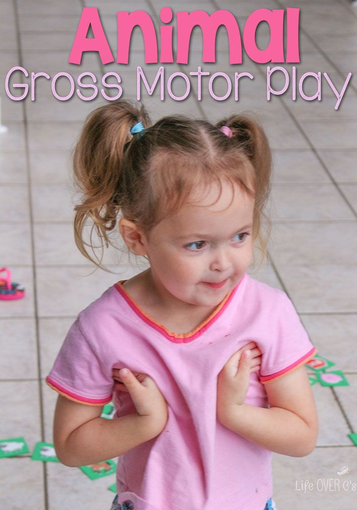 This animal gross motor activity for preschoolers is a fun way to get up and move while learning about animals. Use it to fit any animal theme.