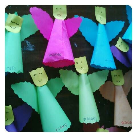 ANGELS sing.....falalalala... #paper #reusepaper #diy4kids