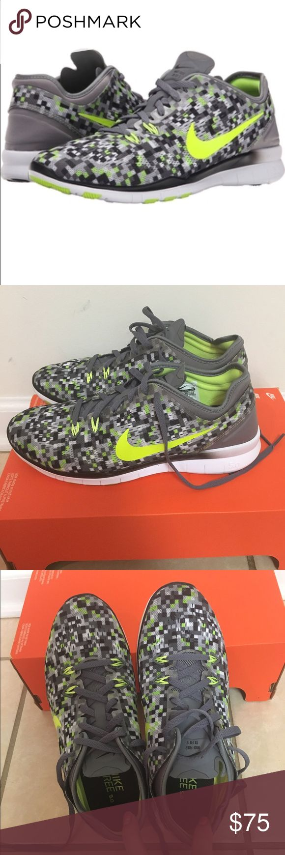 NWT Nike women's free runs NWT Nike women's size 8 free runs 5.0 TR fit PRT  These are so cute and perfect for a workout! I love the neon!  Nike Shoes Athletic Shoes
