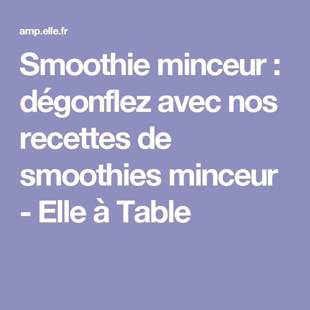 Smoothie minceur : dégonflez avec nos recettes de smoothies minceur - Elle à Table