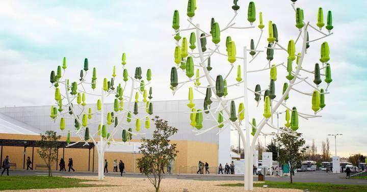 Este árbol artificial convierte el viento en electricidad