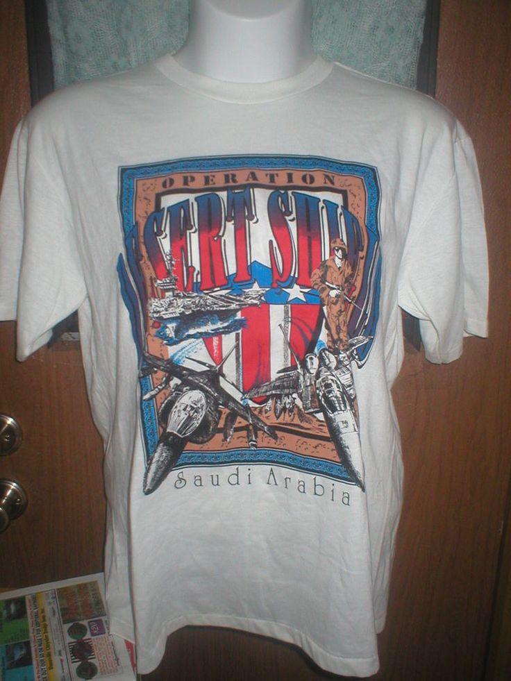 Operation Desert Shield T shirt NEW size large #BasicTee