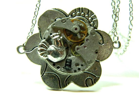 Steampunk jewelry The Rooster surprise gift for by EmilySteampunk