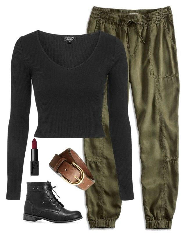 """Kim Possible Costume.. Read D"" by xxglamwithjessxx2 ❤ liked on Polyvore featuring Lucky Brand, Topshop, H&M, Avenue and NARS Cosmetics"