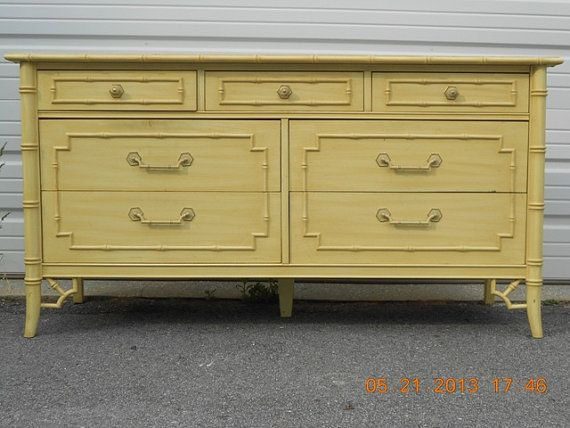 Superb Thomasville Allegro Faux Bamboo Double Dresser By Circa61 On Etsy, $495.00  | Beach | Pinterest | Double Dresser, Faux Bamboo And Dresser