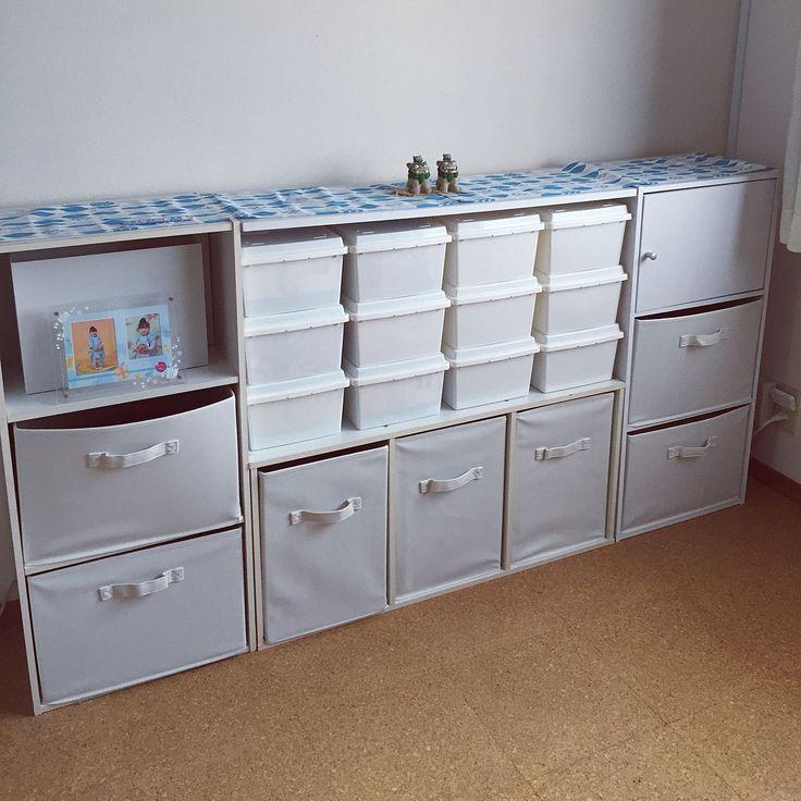 ダイソー×カラーボックス 横置きのインテリア実例 | RoomClip (ルーム ... Bedroom/ダイソー/カラーボックス/100均/アイリスオーヤマ/カラーボックス 横