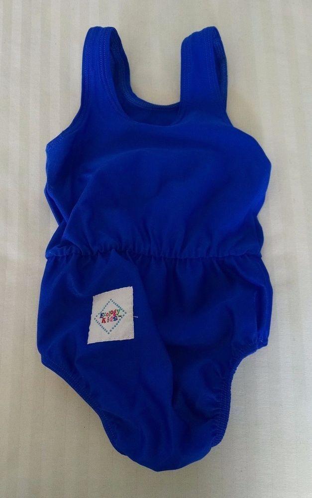 Ökologie Kinder Baby Badeanzug Schwimmwindel Abdeckung M 17-21 Pfund Königsblau   – Children's Bikini