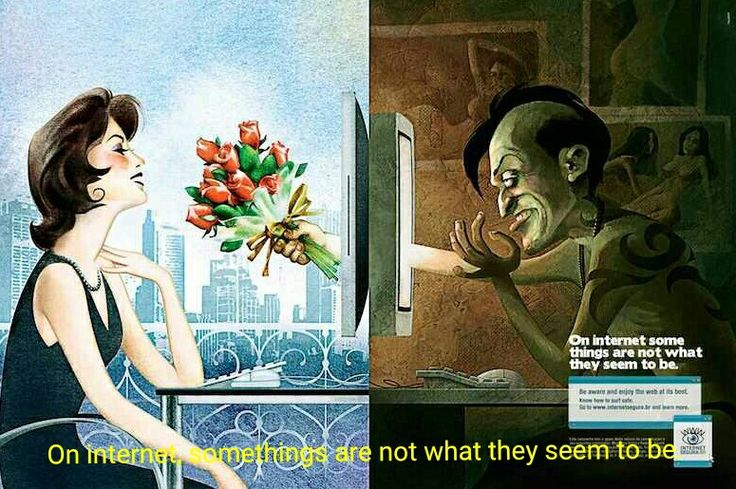On internet, some things are not what they seem to be.