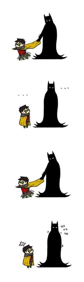 Not sure if this is the real dick grayson robin or tim dreak...either way its funny!!