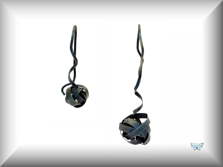 """Gordian Knots"" Oxidized Sterling Silver"