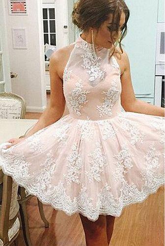 2016 homecoming dress, homecoming dress 2016, high neck homecoming dress…