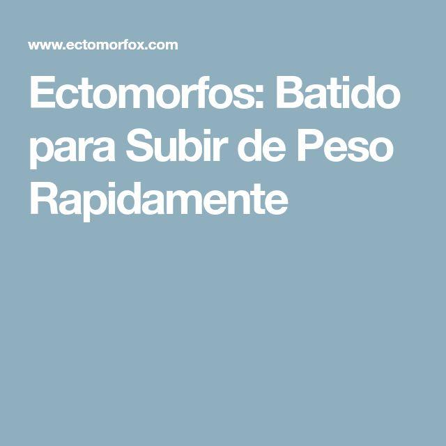 Ectomorfos: Batido para Subir de Peso Rapidamente