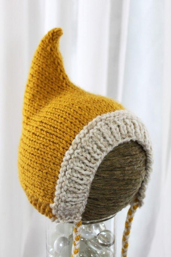 Pixie Hat Wee Little Pixie Hood Sunshine von WeeLittleRobin