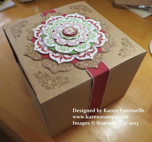 decorate the kraft extralarge gift box from up with the daydream
