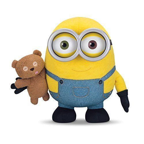 Minions Bob Toy Plush Stuffed Soft Doll Despicable Me Movie Sound Effects Yellow