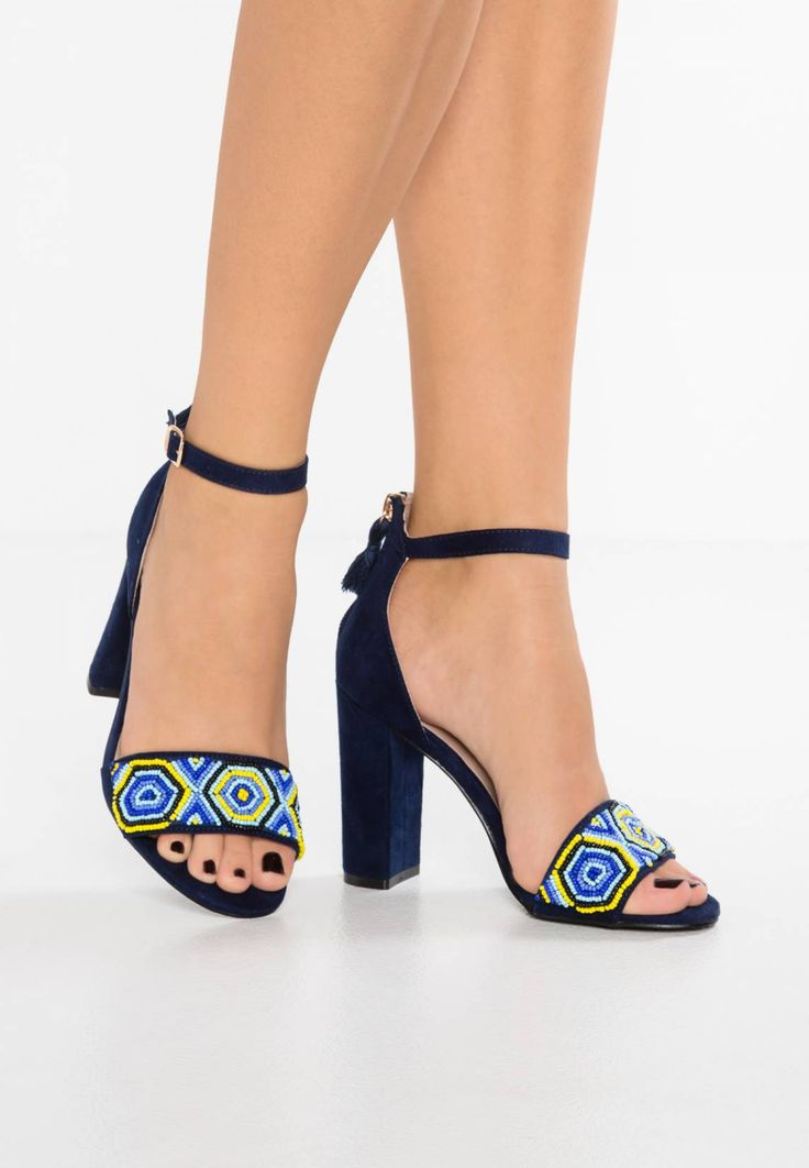 Dorothy Perkins SIZZLE - High heeled sandals - navy blue for with free  delivery at Zalando