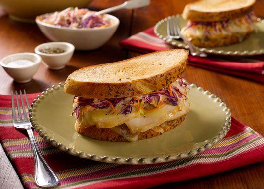 Turkey Reuben Sandwich and Chicken Muffuletta Sandwich (Bobby Flay recipes)