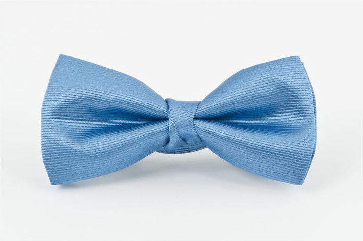 Sky Blue Self Stripe Bow Tie