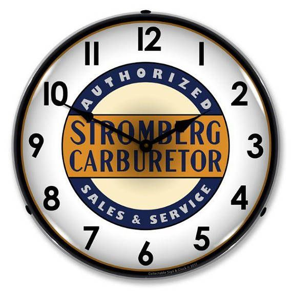 Antique Style Stromberg Service Led Lighted Backlit Clock Wall Clock Light Clock Advertising Signs