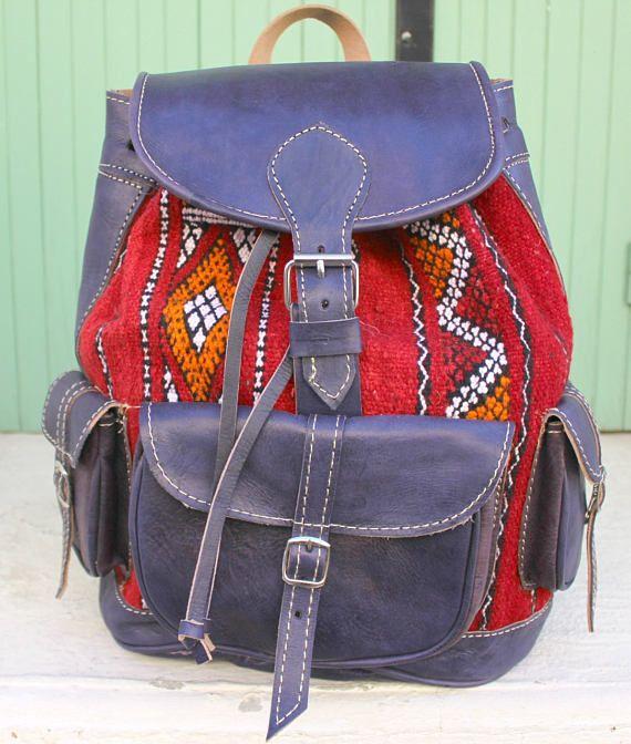 SALE Leather backpack kilim bag kilim backpack laptop bag