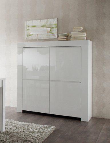 Fresh Highboard Amalfi x x cm wei hochglanz g nstig online bei StyleBee kaufen und bis zu beim Preisvergleich sparen Jetzt weitere Wohnzimmerm bel