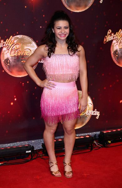 Claudia Fragapane arrives for the launch of 'Strictly Come Dancing 2016' at Elstree Studios on August 30, 2016 in Borehamwood, England.