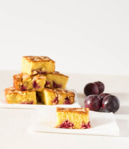 Almond, Orange and Plum Cake Recipe @ Recipes From A Pantry