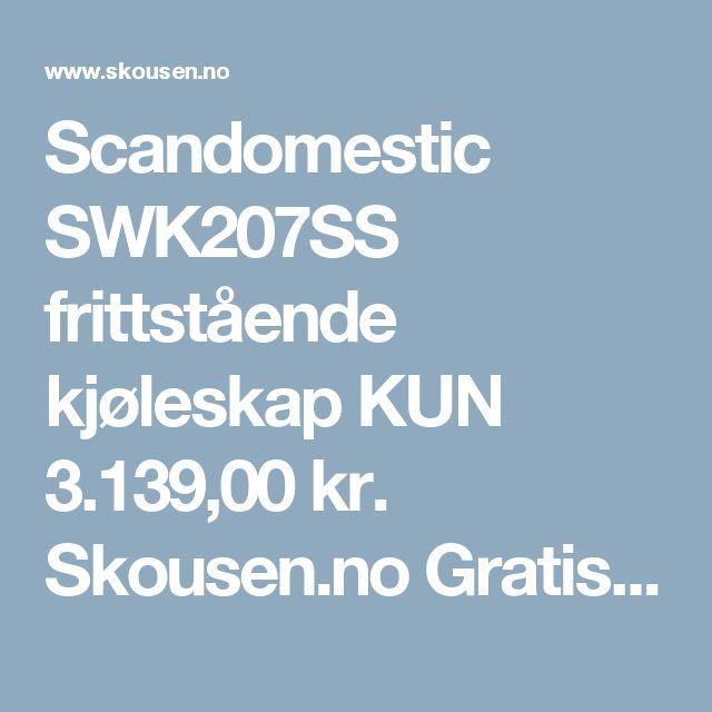 Scandomestic SWK207SS frittstående kjøleskap KUN 3.139,00 kr. Skousen.no Gratis levering og bredt sortiment!
