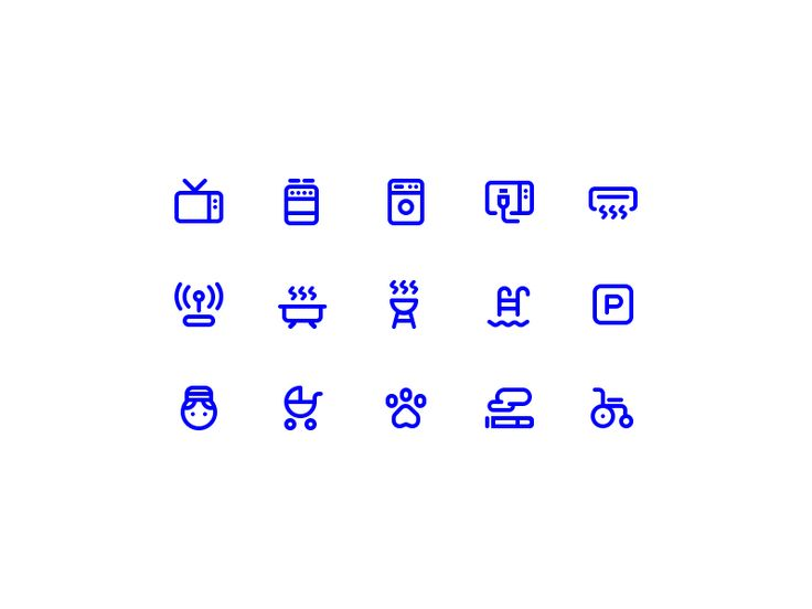 GoBornholm - Accommodation Facility Icons