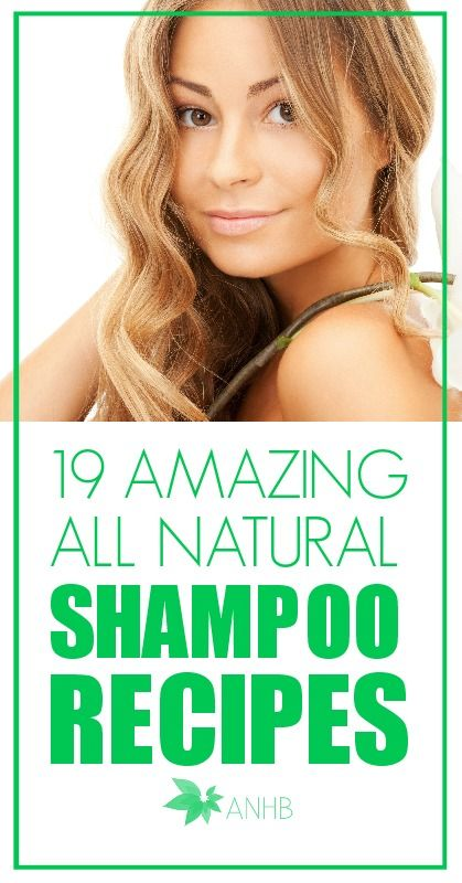 19 Amazing All Natural Shampoo Recipes. Some of these look awesome!