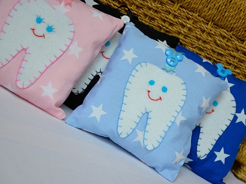 www.saffroncrafts.co.uk - These are gorgeous Tooth Fairy Pillows available on my website