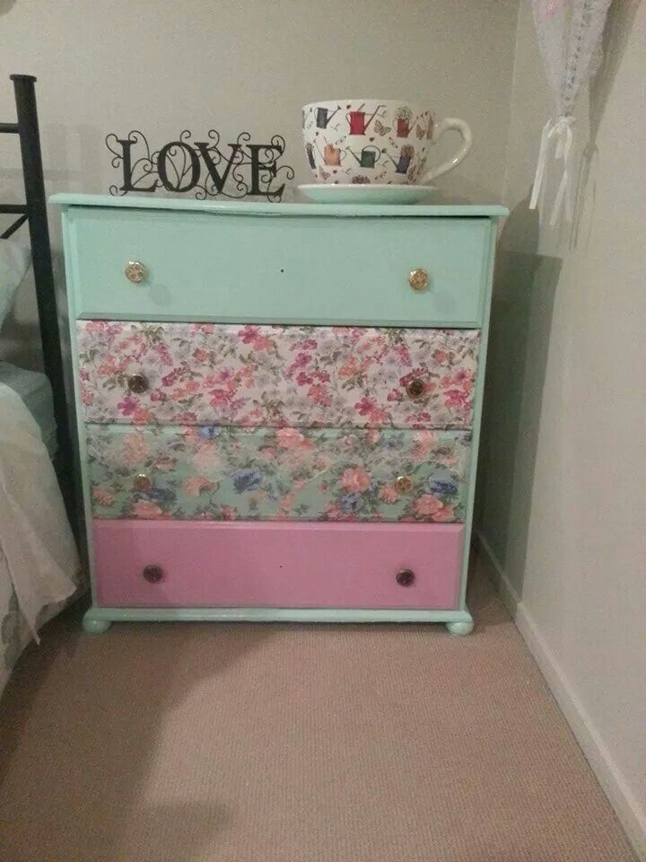 Re-vamped an old drawer for a vintage look
