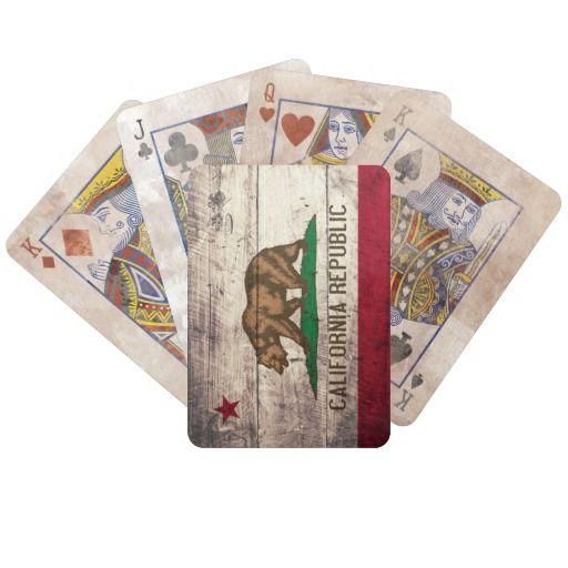 De oude Houten Speelkaarten van de Vlag van Califo