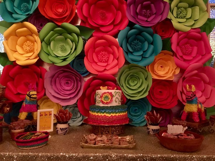 Floral Background Fiesta Mexican Theme Candy Buf Background