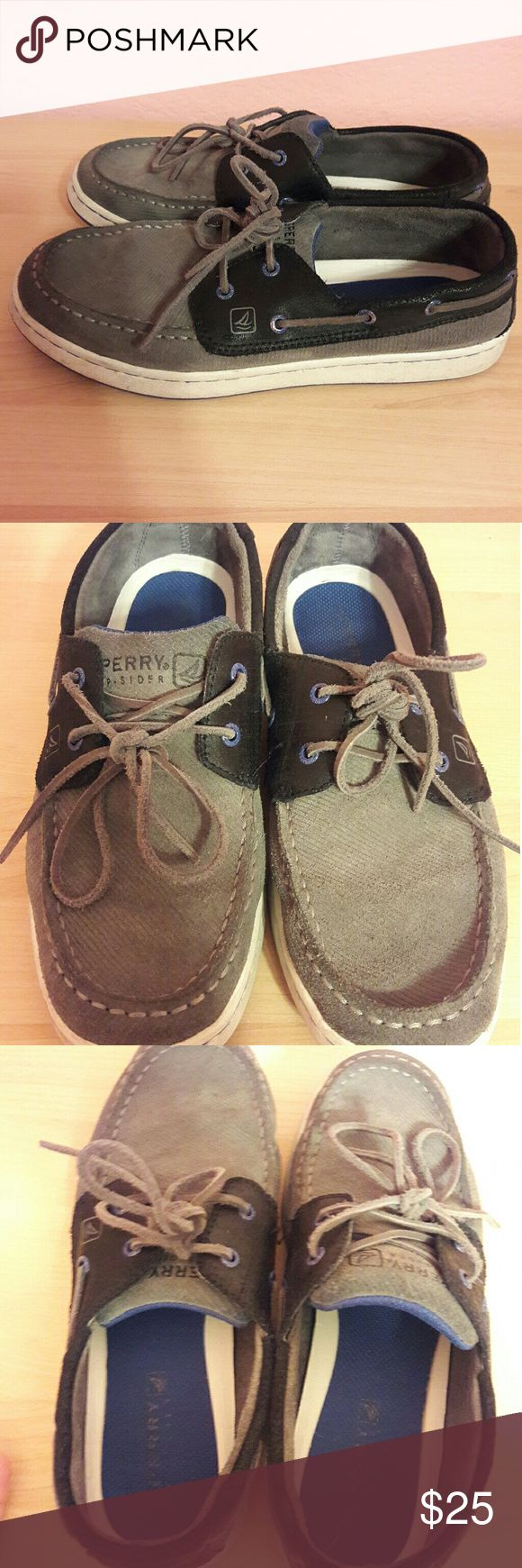 Boys Sperry Top-Sider Shoes Blue & Grey Boys Sperry's size 6. Very good condition Plenty of sole on bottom of shoe. Worn only a few times. Sperry Top-Sider Shoes Dress Shoes