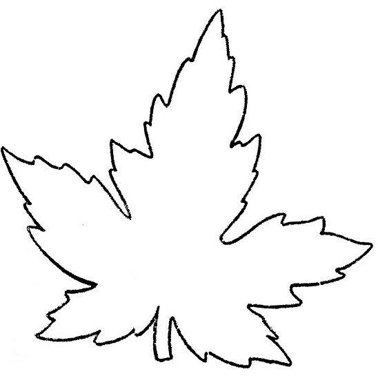 кленовый лист трафарет