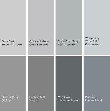 1 gray owl 2137 60 benjamin moore 2 clouded vision de6380 dunn edwards 3 cape cod gray 28. Black Bedroom Furniture Sets. Home Design Ideas