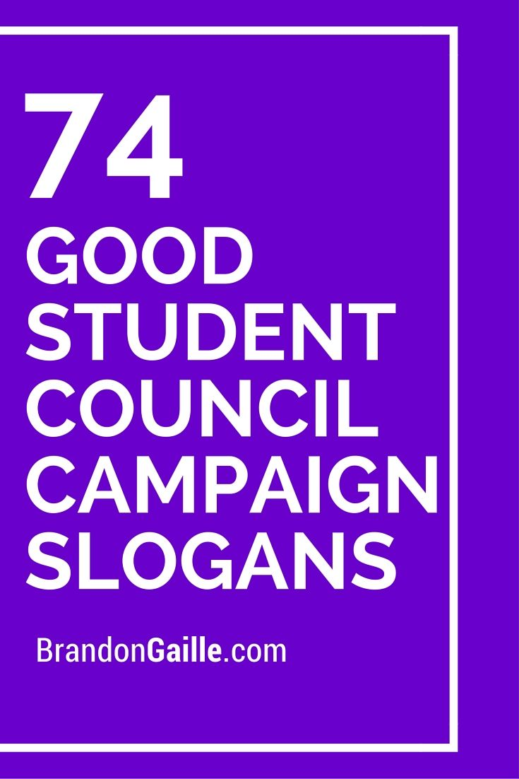 Some good student council campaign slogans that will help raise awareness for your cause.