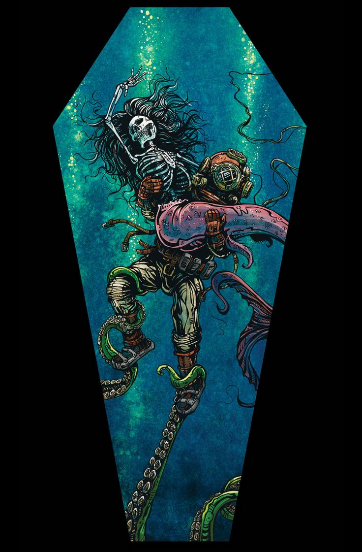 An interesting alternative to traditional wall art, these ready-to-hang coffin-shaped prints are produced with archival ink on museum-grade canvas with gallery-wrapped black sides. The 17 x 36 giclees