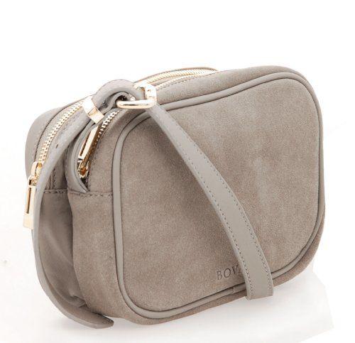 BOVARI petit sac porté épaule sac bandoulière taupe - Le Sac en Cuir