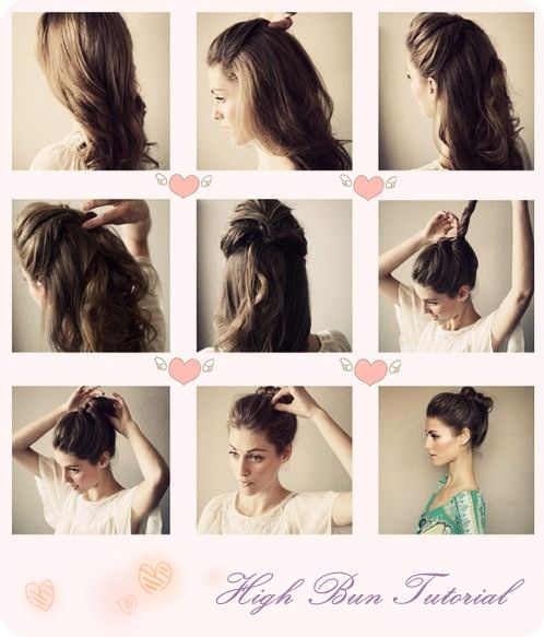 Top 3 Easy Daily Hairstyles Ideas for Medium Hair easy and simple high bun tutorial with human hair extension updo hairstyles for girls